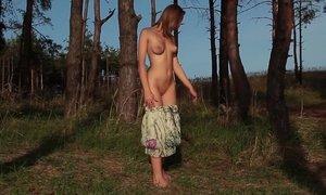 Innocent girl posing in nature Beeg