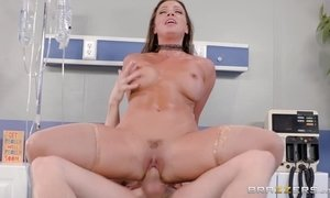 Sexy Doctor Abigail Mac rides cock in hospital