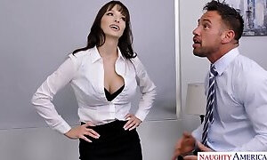 Busty babe Lexi Luna makes love with her boss in the office