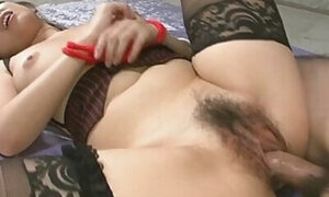 Asian beauty in stockings gets drilled deep