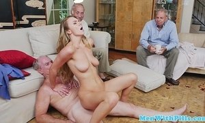 Finelooking youngster facialized by old guy xVideos