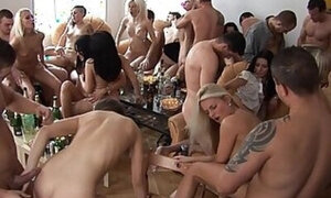 Insane orgy video with dirty fucking and more