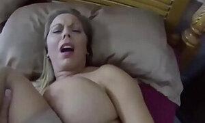 Busty blonde stepmom enjoying vicious fucking here