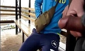 chinese man seduce straight boy outside