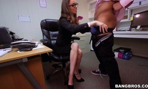 Slutty manager Tali Dova is fucked by black co-worker AnySex