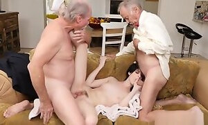 Daddy fucks partners daughter hard and fast first time Frannkie heads