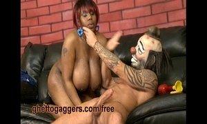 Chubby Black Slut Deepthroats A White Clown xVideos