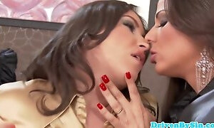 Chick fucks girls in assholes by her fingers
