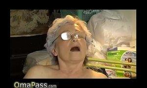 Old chubby Granny masturbate xVideos