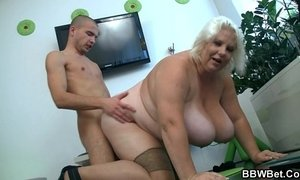 Huge blonde lady gets doggystyled xVideos