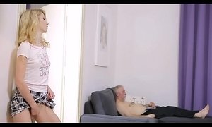 Lustful old boy fucks young angel xVideos