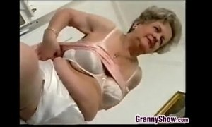 Naughty Grandmother Does A Striptease xVideos