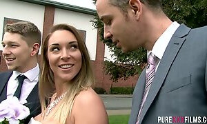 Grooms friend gets awesome blowjob for a perverted bride Victoria Summers