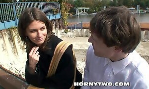 Too young pretty teen amateurish picked up on street to fuck