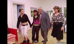 Hot babes suck grandpa's cock xVideos