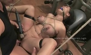 Brunette sexy busty delicious babe fucked by coach in deepthroat and rough sex xVideos