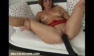 Brunette is plowed by a brutal dildo machine xVideos