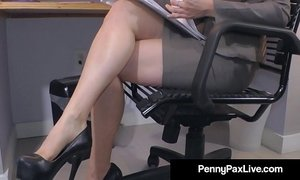 Hot office temp penny pax stays late to masturbate for you  xVideos