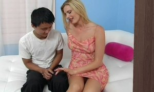 Long legged blonde Stepmom adopts son's cock Beeg