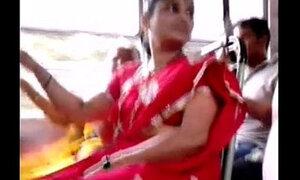 Red Saree Aunty Big Ass