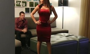 Lady in Red gets fucked Beeg