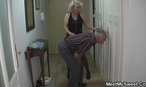 She gets lured into 3some by his parents xVideos