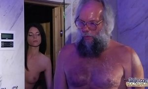 Teen Sensual Cock Massage and Pussy fuck with big dick grandpa super hot xVideos