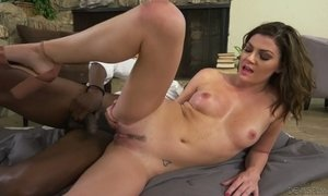 Whore wife Jessica Rex is cheating on her husband with hot black neighbor AnySex