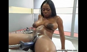 Hot Busty black girl wilth Fuckingmachine xVideos