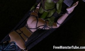 Tied up 3D elf babe gets fucked hard by a goblin xVideos