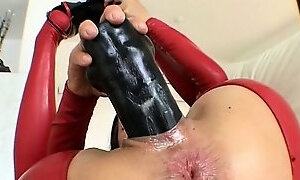Dirty brunette slut goes crazy dildo part6