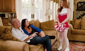 Kinky cheerleader step-daughter