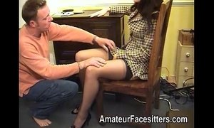 Rose Wood facesits a guy wearing her business suit xVideos