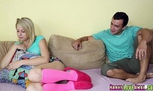 Zoey Monroe rides on top her step bro like a cow girl xVideos