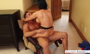 Busty cheater Audrey Bitoni fucked in black stockings and high heels AnalDin