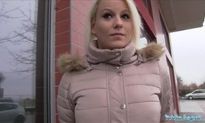 Public Agent Hot blonde Lucy Shine takes cash for sex AnalDin
