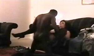 Black guy fucking chubby girl on hidden cam
