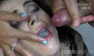 Young Cum Eating Slut Gets More Then 50 Facial Cumshots