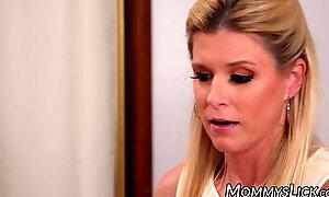 Latina lesbian Gianna Dior fed stepmoms hairy pussy