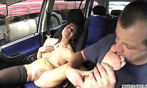 Horny Driver Sucks Whores Toes