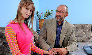 TrickyOldTeacher - Horny old teacher fucks sexy sexy student and gives her pussy cum filling